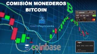 Comisión en Monedero Bitcoin