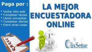 Clixsense la mejor encuestadora online para ganar dinero