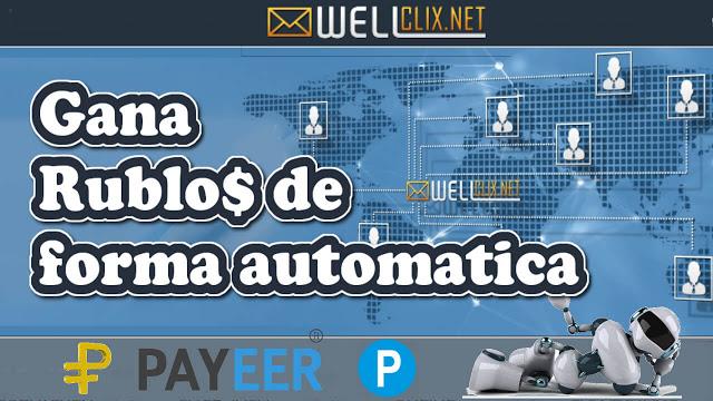 Gana Rublos de forma automática con WellClix