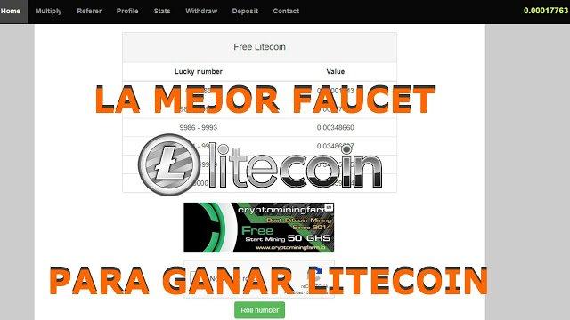 Una faucet muy rentable para ganar Litecoin Free Litecoin
